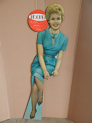 RARA INSEGNA OLD SIGN IN MASONITE HOOVER 166 cm PROMO PIN UP PIN-UP PINUP '50S