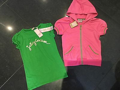 NWT Juicy Couture New & Genuine Girls Age 8 Pink Cotton Hoody & T-Shirt & Logos