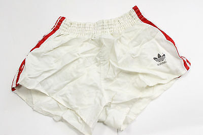 ADIDAS SHORTS MADE WEST GERMANY VINTAGE pants shiny sprinter gym WAIST 36cm 1004