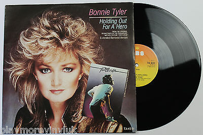 """BONNIE TYLER Holding Out For A Hero (ext) 12"""" UK 1984 CBS TA4251  jim steinman"""