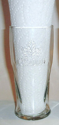 Molson Canadian Clear Beer Glass Embossed 3D Maple Leaf New - 8 Available