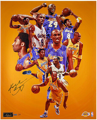 "KOBE BRYANT Autographed 24 x 30 ""Greatness"" Photograph LE 24 PANINI"