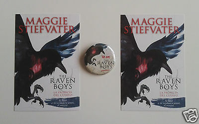 The Raven Boys Maggie Stiefvater 2 x postcards pinbadge collectors item no book