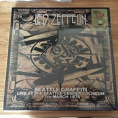Led Zeppelin Seattle 1975 vinyl 5 LP 3 CD not Tarantura Empress Valley