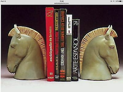 "Rare Lladro ""horses Head Bookends"" #2010 Stunning Book Ends Of Horses Heads"