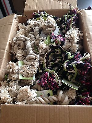 wholesale/joblot small dog/puppy rope toys x 48
