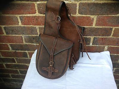 Genuine Leather Saddle Bags Long Distance Western
