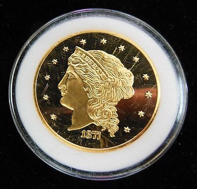 1877 Liberty $50 Half Union Proof Gold Plated Copy