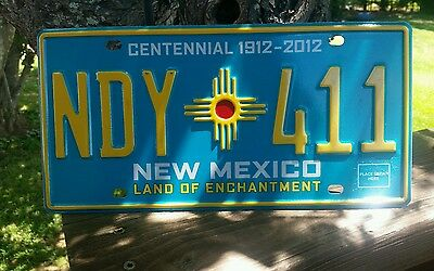New Mexico  Land Of Enchantment   License Plate # Ndy * Zia * 411