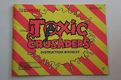Toxic Crusaders Manual, Instruction Book, NES, Nintendo.