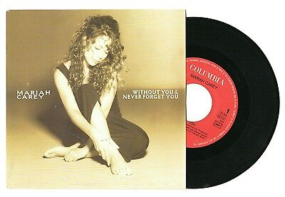 """Mariah Carey – Without You & Never Forget You, 7"""" vinyl jukebox single"""
