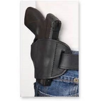 Black Bulldog Leather OWB Belt hand Gun Holster for Glock 42 380
