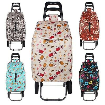 Newly Shopping Trolley Eco-Friendly Travel Dolly Wheels Bag Large Storage Cart