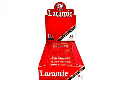 Laramie Red Rolling Papers Box 24 Booklets 1 1/4 Premium Fine Quality 50 leaves