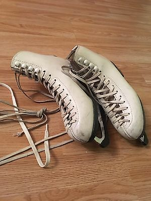 White Girls Ice Skates Size 3/36