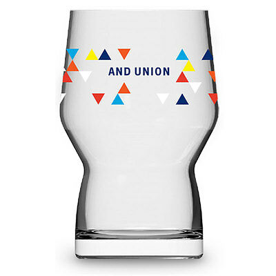 And Union : Haus Fiesta 2/3 Pint glass Craft beer glass