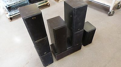 Lot of 8 Soundstage Speakers Home Surround Set - Super Nice }