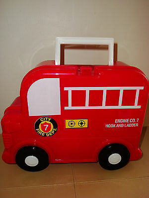 Vintage A.k. Das Engine Co. 7 Hook And Ladder Lunch Box