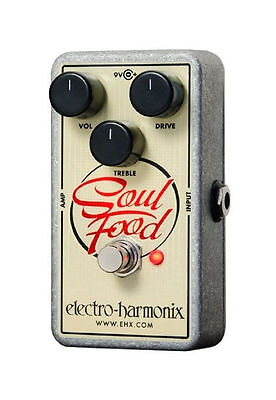 Electro-Harmonix EHX Soul Food Distortion Fuzz Overdrive Guitar Effects Pedal
