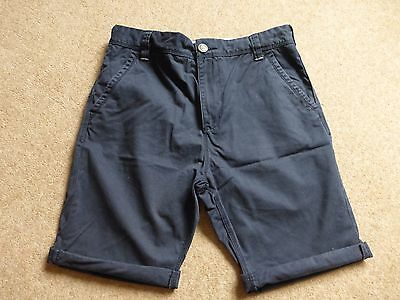 BOYS Next navy blue chino shorts  Age 14 Excellent condition