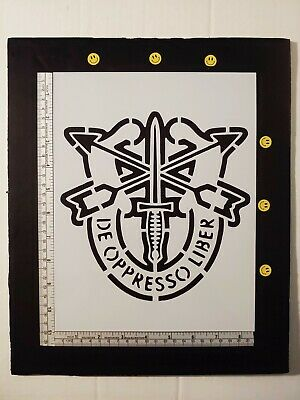 """Army Special Forces Crest Military 8.5"""" x 11"""" Custom Stencil FAST FREE SHIPPING"""