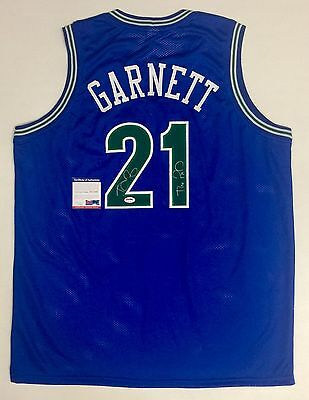 KEVIN GARNETT AUTOGRAPHED WOLVES JERSEY with THE KID INSCRIPTION - PSA ITP COA