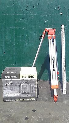 Topcon Rl-H4C Self-Leveling Rotary Slope Laser Level Package, Grade, Inch