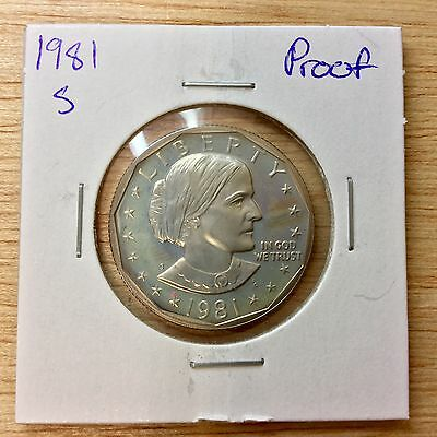1981-S *Proof* Susan B. Anthony Dollar LOT#E-141