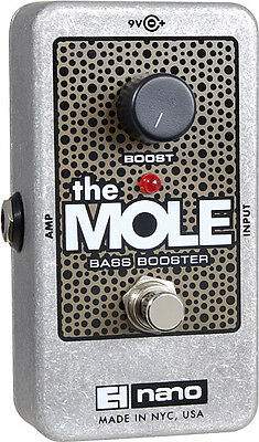 Electro-Harmonix EHX The Mole Bass Booster Guitar Effects Pedal