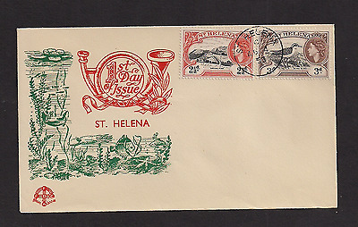 St Helena FDC 1953 Queen Elizabeth 2 1/2 and 3 pence