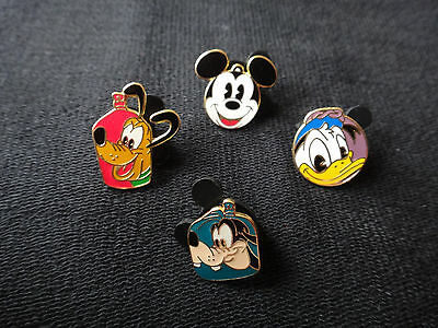 Disney Pins: Mount Rustmore Buoys  - Set of 4  - Disney Cruise Line DCL Mickey
