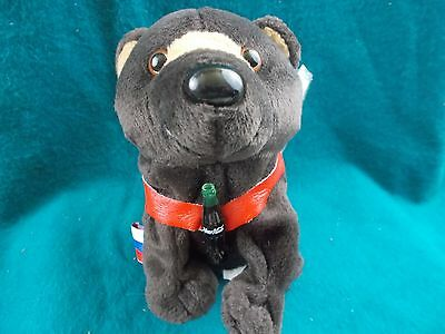 "coca-Cola plush 8"" Bear Russia flag 1999 coke beanie zoo tag protector toy pet"