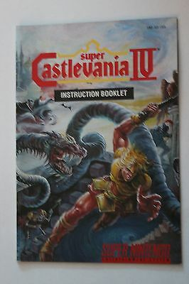 Super Castlevania IV 4 Manual, Instruction Book, SNES, Nintendo