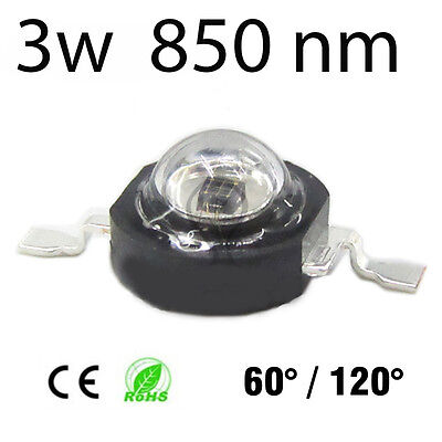 1x Led chip 3w infrarrojo 850nm infrared night vision