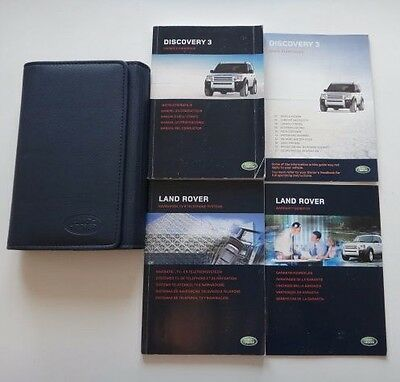 Land Rover Discovery 3 Owners Manual Handbook & Wallet 2004-2009