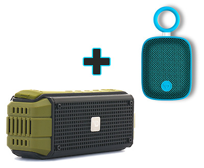 Dreamwave EXPLORER 15W Outdoor Portable Bluetooth Speaker + Blue Mini Speaker