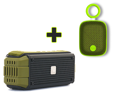 Dreamwave EXPLORER 15W Outdoor Portable Bluetooth Speaker + Green Mini Speaker