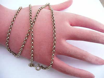 Superb Vintage 9Ct Yellow Gold Belcher Link Chain 20 Inches Necklace 10.3 Grams