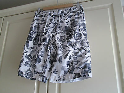 Mens White,grey And Black Shorts (S) George