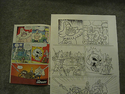 Signed Regular Show original comic art page A3 Laura Howell