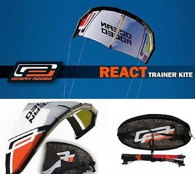 Ocean Rodeo React 2m Trainer Kite, line & Harness  - COMPLETE- Kite surfing -NEW
