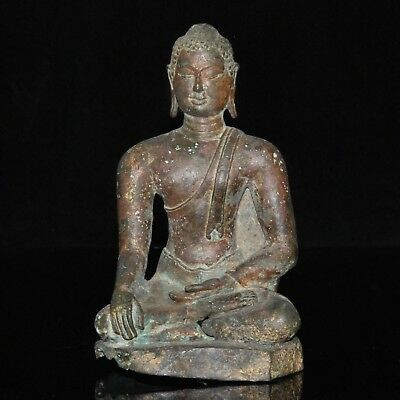 RARE Antique Chiang Saen Lanna Bronze Statue of the BUDDHA 14th Century Thailand