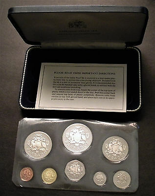 1973 Barbados 8 Coin Proof Set with 1.927 oz of silver - from Franklin Mint