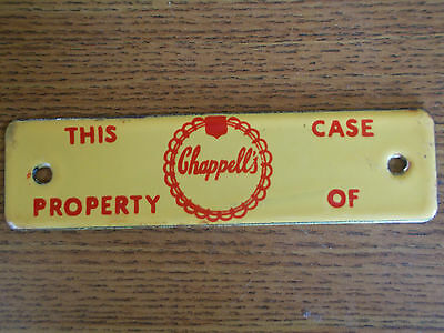 Chappell's Dairy Milk  Porcelain Sign Advertising New Old Stock,gas,soda