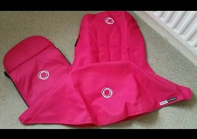 Bugaboo cameleon 1, 2 3 hot pink canvas fabric set Hood, apron and seat cover ×