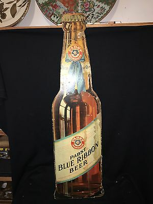 """1940's 34"""" Pabst Blue Ribbon Beer Sign"""