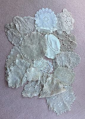40 Vintage Crochet Doilies Assorted Sizes And Shapes