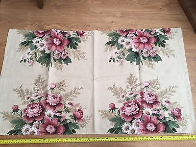 Vintage Sanderson Grosvenor Fabric Floral Flowers Must See !