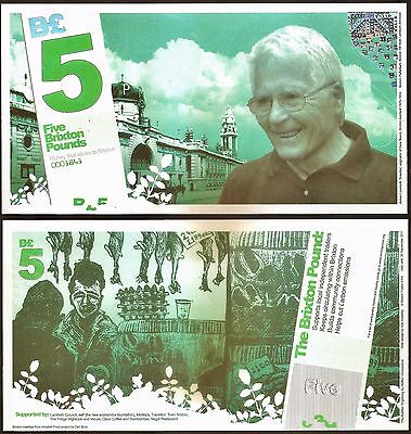 England / Brixton : Local Currency £5 Banknote from their 1st series. UNC.