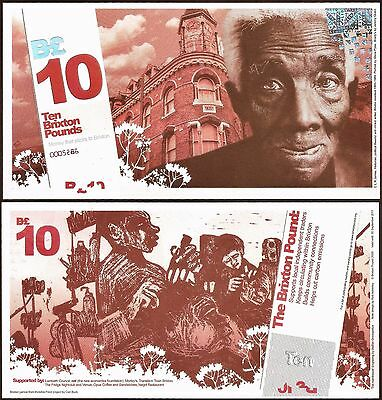 England / Brixton : Local Currency £10 Banknote from their 1st series. UNC.